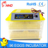 Cer-anerkannter voller automatischer Minihuhn-Ei-Inkubator, der 96 Eier anhält