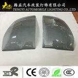 Regalo accesorio del coche de la cubierta de fibra de carbono gris pantalla ligera