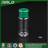 يخلي [100غ] [3.3وز] بلاستيكيّة تابل زجاجة مع [غرين كلور] بلاستيكيّة نقد أعلى غطاء