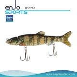 Pescador Seleccione Multi articulado vida-como Swimbait 4 Sección duro señuelos de pesca sal y cebo de pesca pesca en agua dulce de los trastos (MS0210)