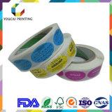 Etiquetas de cuidado de la belleza de papel plástico impreso adhesivas
