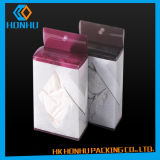 Caixas de empacotamento do roupa interior plástico da decoração dos PP