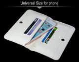 Suporte de carteira de couro universal elegante para PU com capa antiderrapante resistente a choque para Nokia Lumia 925 com slot para cartão