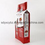 De zij Plastic Zak van de Hoekplaat voor Korrels/Rijst/Voedsel voor huisdieren met het Gat van het Handvat