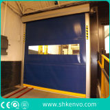 Rapides à grande vitesse à réparation automatique de tissu de PVC enroulent la porte pour l'entrepôt