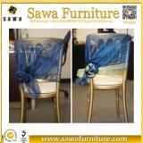Faixas elásticas da tampa da cadeira do casamento do ornamento do coração