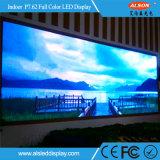 Écran d'intérieur polychrome de HD P7.62 DEL pour la publicité de mémoire