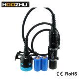 Hoozhu Hv33 4 색깔 잠수를 위한 가벼운 두 배 스위치 잠수 영상 가벼운 최대 4000lm Watrproof 120m LED 토치