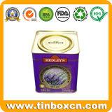Quadratischer Zinn-Tee kann, Tee-Transportgestell, Zinn-Tee-Kasten