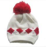 Cappello lavorato a maglia jacquard con il fiocchetto (JRK210)