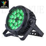 DMX 18X18W RGBWA UV Luz de Palco Plano Outdoor LED PAR