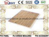 新しい木製デザイン平らな薄板にされたPVC壁の天井板、プラスチックパネル、Cielo Raso De PVC