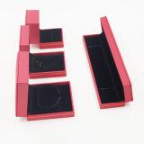 Pelusa de Flannelette que se reúne el rectángulo de joyería plástico de cuero del embalaje (J70-E3)