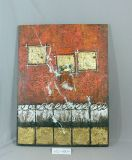 赤レンガの壁パターンホーム供給のキャンバスの絵画