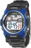Gli ABS mettono vigilanze di immaginazione di colori del cronografo rotondo del movimento del Giappone dell'elastico le varie