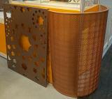 Strato di alluminio perforato di disegno musulmano del reticolo per la decorazione della facciata dello schermo