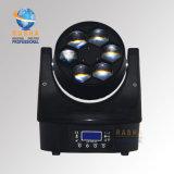 Nueva luz principal móvil de la viga del ojo LED de la abeja de la luz 6*15W 4in1 RGBW/RGBA de la etapa de Rasha Fx6 con DMX512 Poercon