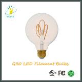 Base de la lámpara E26/E27 de Aaving de la energía ligera de bulbo de G30/G95 LED