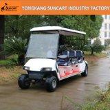 Chariot de golf à piles approuvé de la CE en gros 6 Seater, couleur électrique de Seater de noir de chariot de golf de 6 Passanger