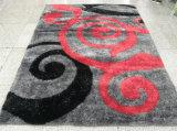 Der Teppich mit schwarze Aschen-Puder-Ausdehnungs-Garn und Seide