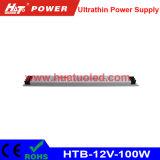12V-100W bloc d'alimentation ultra-mince de la tension continuelle DEL
