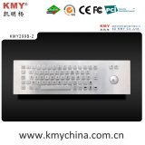 Teclado industrial de metal com trackball (KMY299B-2)