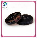 Teclas de camisa de primeira qualidade do terno da resina da tecla preta da rotulação 4holes