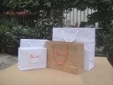 Personalizar sacos de papel de compra do presente dos sacos de papel da impressão