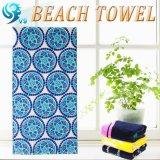 100%年の綿の反応印刷されたビーチタオル