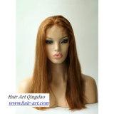 Do cabelo humano de Remy da alta qualidade peruca cheia do laço para mulheres