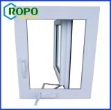 Ventana de cristal de la manivela de la casa moderna del PVC del huracán de la ventana
