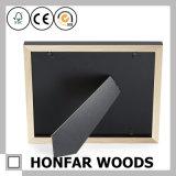 Frame ereto de madeira preto decorativo da foto do retrato com esteira