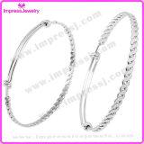 Forma el brazalete, pulsera del encanto de la torcedura del alambre