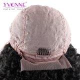 Yvonne 180% 조밀도 흑인 여성 브라질 Virgin 머리 자연적인 색깔을%s Malaysian 컬 레이스 정면 사람의 모발 가발은 출하를 해방한다