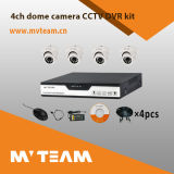 CCTV Security 4CH Ahd 720p 4PCS Dome Camera DVR Kit MvtKah04D