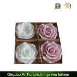 Vela hecha a mano de Rose de la flor para la decoración del banquete de boda