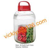 8L, 10L, 12L, grande vidro de vinho da fruta 15L range a série com tampão plástico