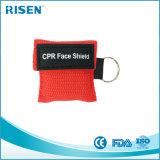 Het aangepaste Masker Keychain van het Schild CPR van het Gezicht van het Embleem Mond aan Mond CPR