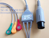 Common Snap&Clip Rou 6pin 3&5 ECG Cable