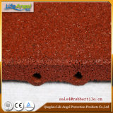 Pin-Hole Playground Rubber Floor Tiles, Rubber Tiles