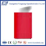 Cadre d'éclairage LED d'énergie solaire de couleur rouge