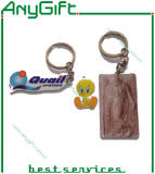 Afgedrukt Roestvrij staal Keyring met Customized Size en Logo