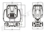 Faisceau tournant 10r de Sharpy de Gobo de mini de faisceau de prix usine lampe d'Osram 280W