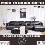 O sofá moderno europeu o mais atrasado do couro da mobília do estilo