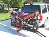 De Drager van de motorfiets
