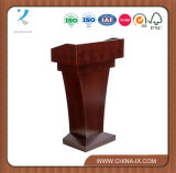 Kundenspezifischer hoher Schreibtisch versieht Podium für Hotel mit dem Schieben des Faches mit Seiten