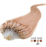 100% 인간적인 인도 Hair Extension 6#Loop Micro Ring Hair