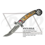 "5 "" cerraron el cuchillo Pocket plegable del regalo con la maneta coloreada: 4pn76-50grb"