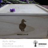 Hongdao ha personalizzato il legno di pino e la casella di legno del MDF con il marchio timbrato caldo