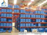 Q235 Steel 3 ou 4 Pallet Deep Push Back Pallet Rack para Warehouse Storage